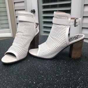 Sam Edelman White Peep Toe Booties Size 9